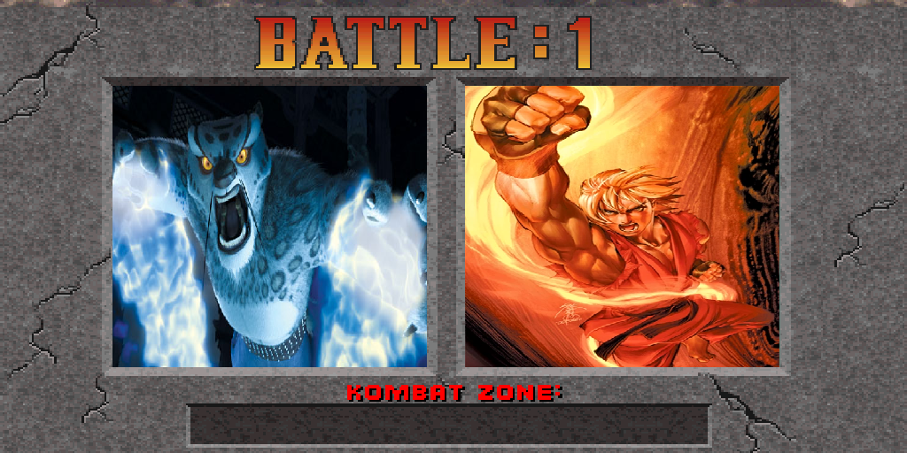 Tai Lung vs Ken Masters by kirk327