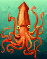 giant squid by JackHook