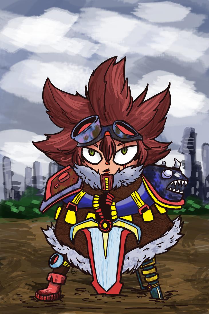 Tiny Swordsman by Luisaruas