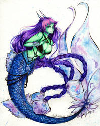 MerMay 2019: Day 12: The Great Mother of Mermaids by SaphaiaNefertiti