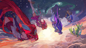 League of Legends - Star Guardians falling by NoraNecko