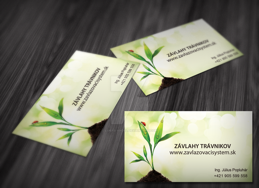 business cards for lawn irrigation by lukas-andel on DeviantArt