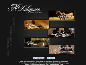 NDulgence Salon Website 2011 Design