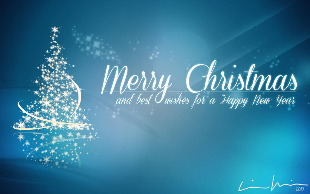 Merry Christmas Happy New Year 2015 (Wallpaper) By