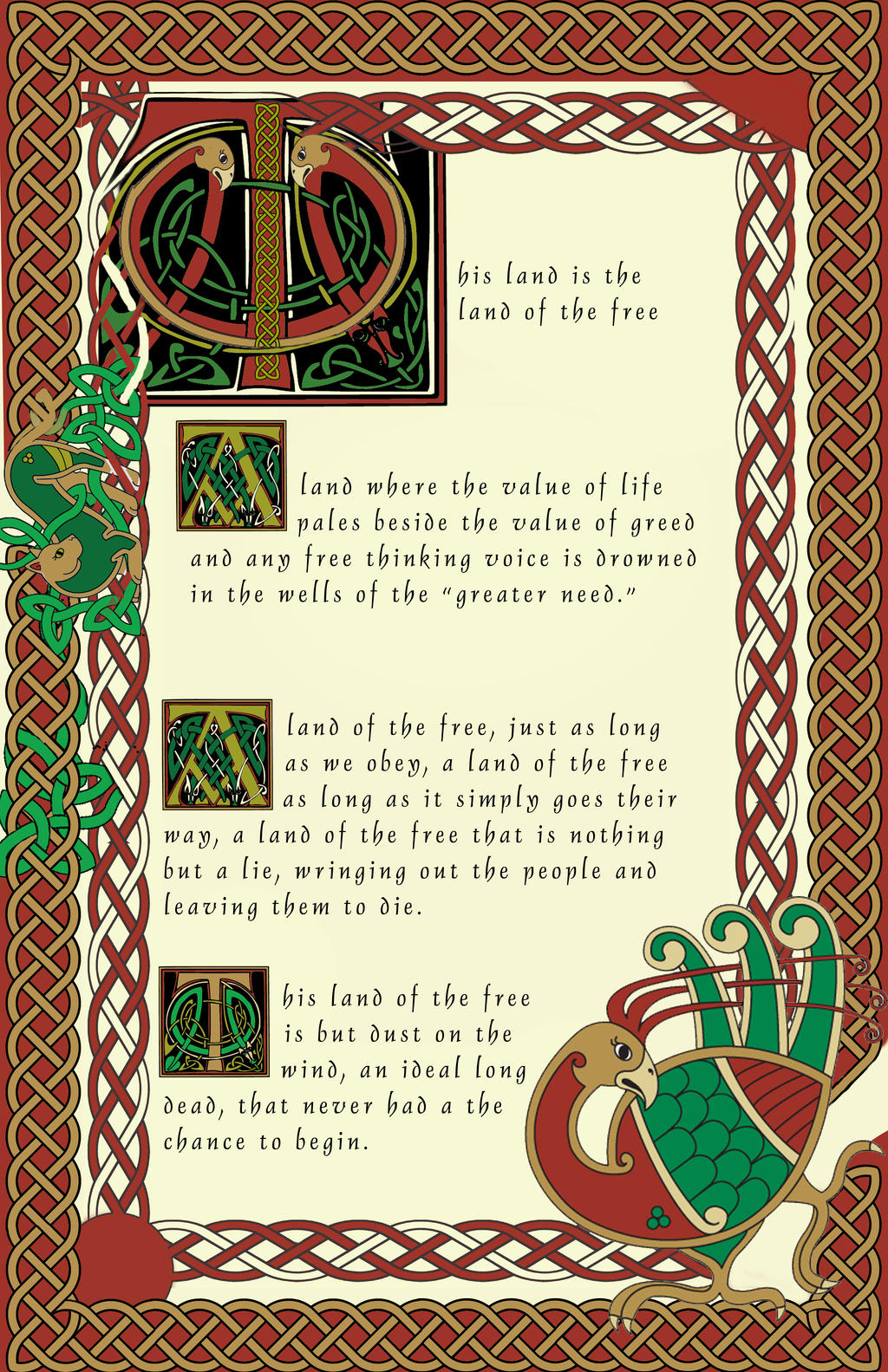 Celtic Illuminated Manuscript By Darylkt On Deviantart