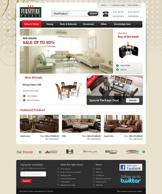 Furniture website by nealinfotech on deviantart for Furniture design site