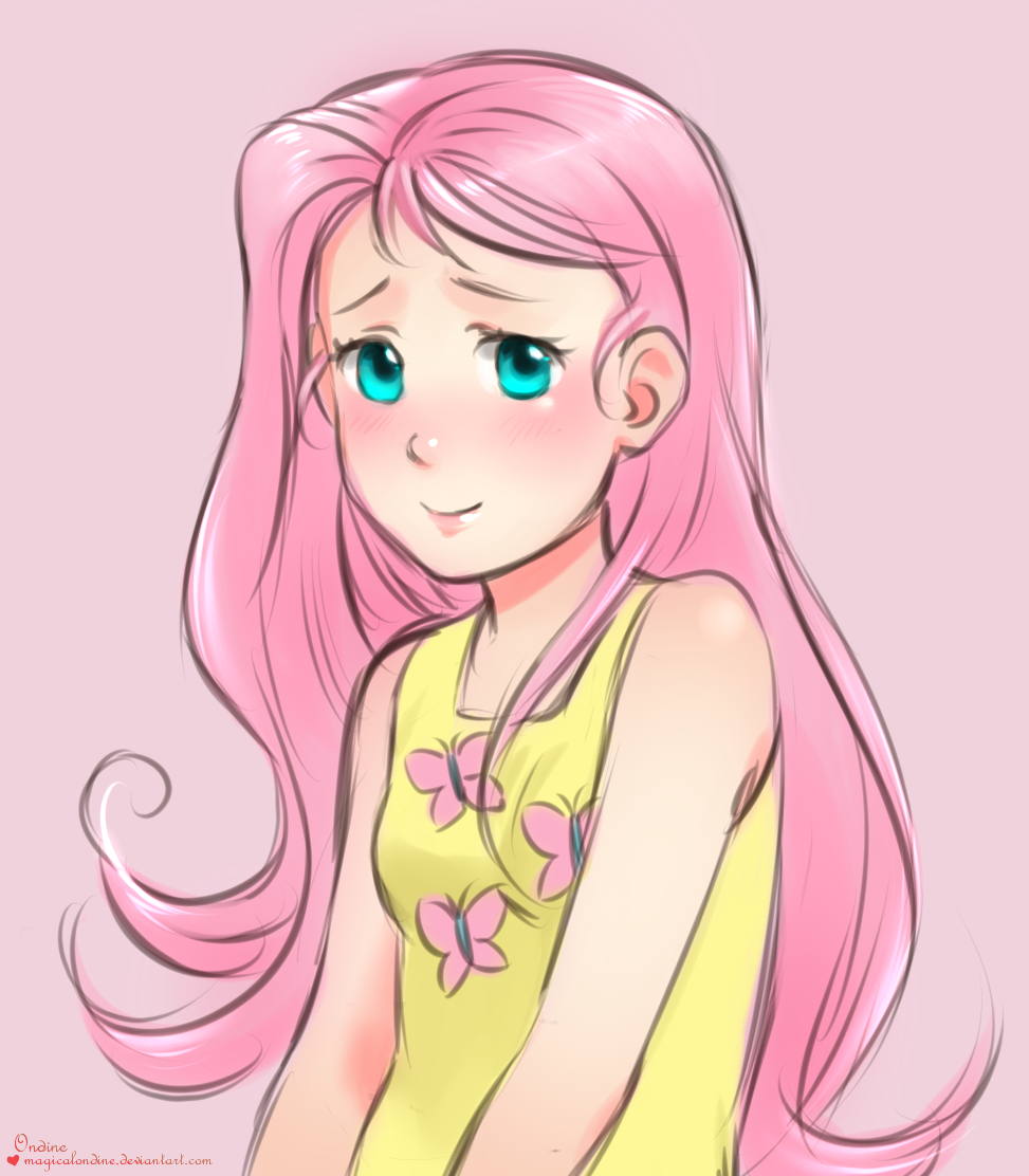 Fluttershy doodle by magicalondine