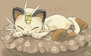 Sleepy Meowth by magicalondine