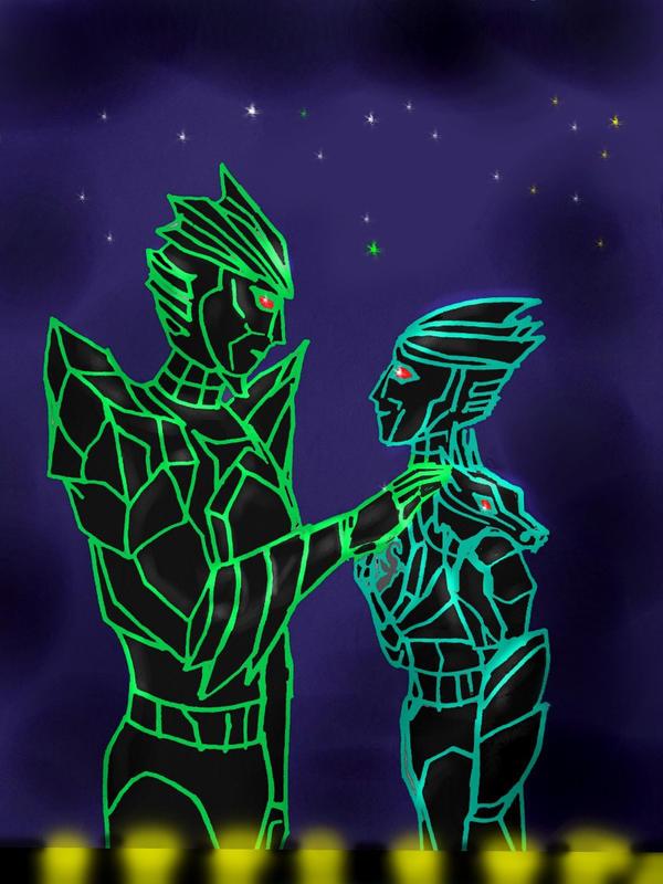 Ecliptor and Darc Draco by TiElGar