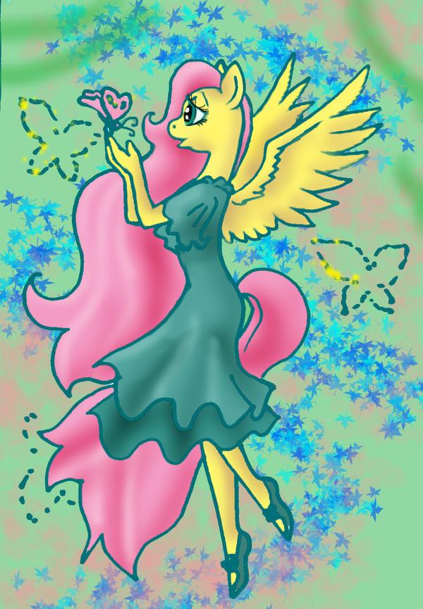 Anthro-Pony Pegasus Fairy by TiElGar
