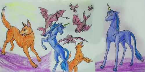 Wheelie, Blurr and Lipoles animal version