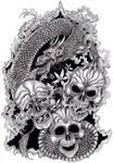Tattoo Design: Happy, Sad, Mad