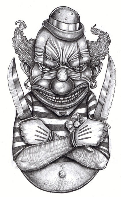 Killer Clown Coloring Pages Tattoo Design By