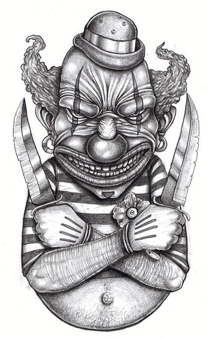 Tattoo design: Killer Clown by ~tjiggotjurring on deviantART
