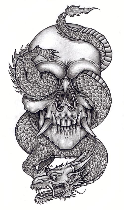 skull and reptile 1 by tjiggotjurring on deviantart. Black Bedroom Furniture Sets. Home Design Ideas