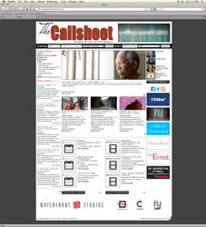 The Callsheet - Site Design