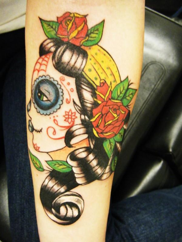 Day of the dead gypsy tat by StarvingArtist513