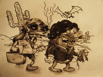 Ren and Stimpy in Las Vegas by StarvingArtist513