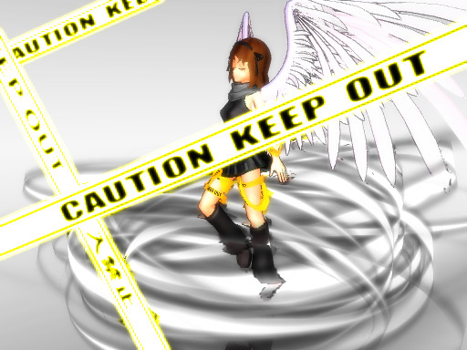 Caution Tape Angel: Freedom by SilverStarlite