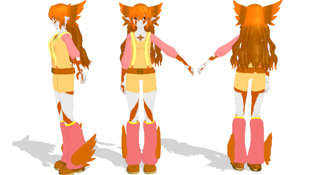 Fan Gen ref sheet (Tiama Tawny) by SilverStarlite