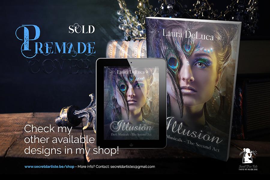 Premade book cover - Mystery Masquerade