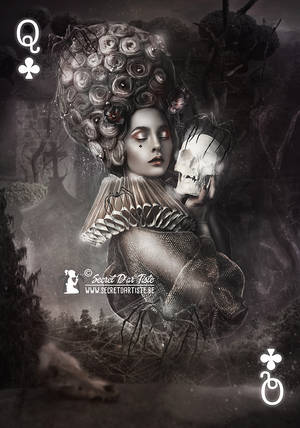 Queen of Clubs - print available by SecretDarTiste