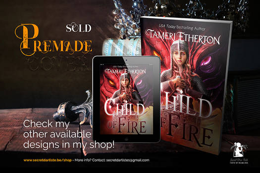 Premade cover: Child of fire - SOLD