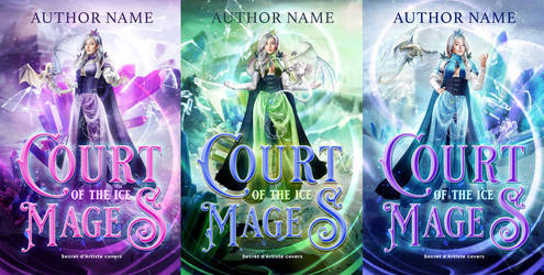 Trilogy cover design - Ice mages