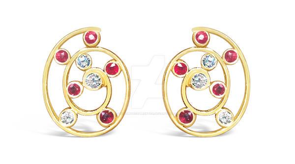 Galaxy Spiral Earrings by GoldsmithsApprentice