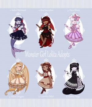 [OPEN 5/6] Monster Girl Lolita Adopts