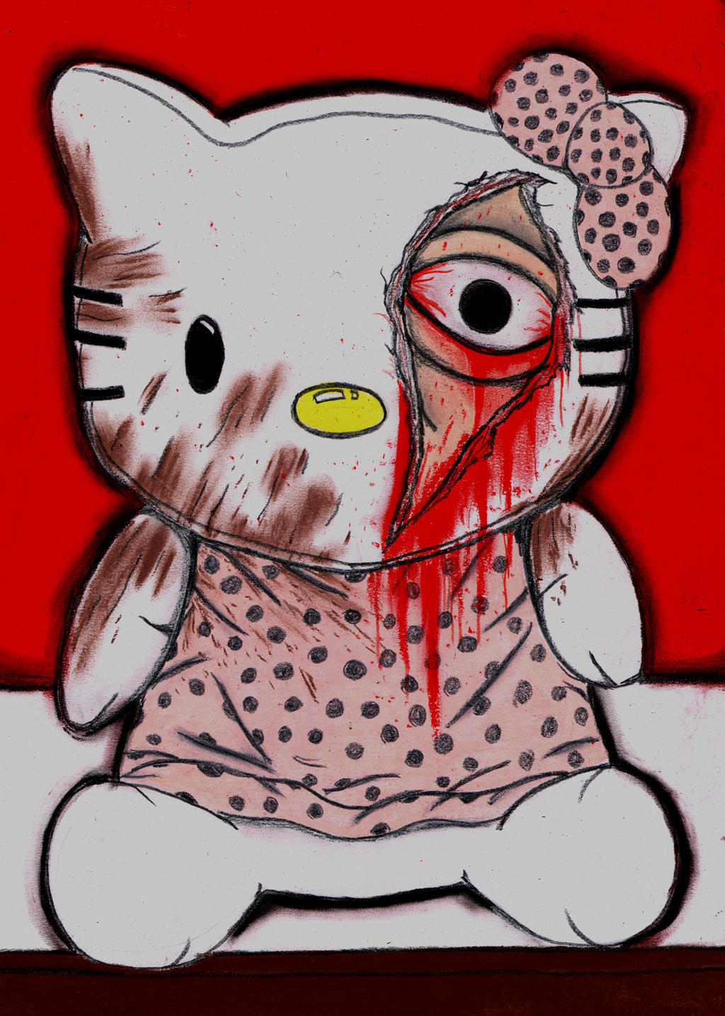 Hello Kitty Murder by charcoalman on DeviantArt Someone Writing