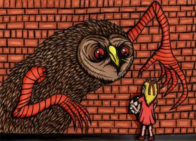 SCP-1155:Predatory Street Art by charcoalman