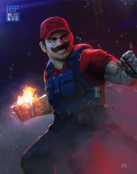 Super Smash Bros: Remixed  - Mario Fireball!