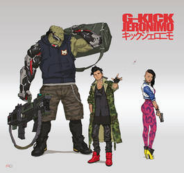 G-KICK GERONIMO - Main Characters by andrewdoma