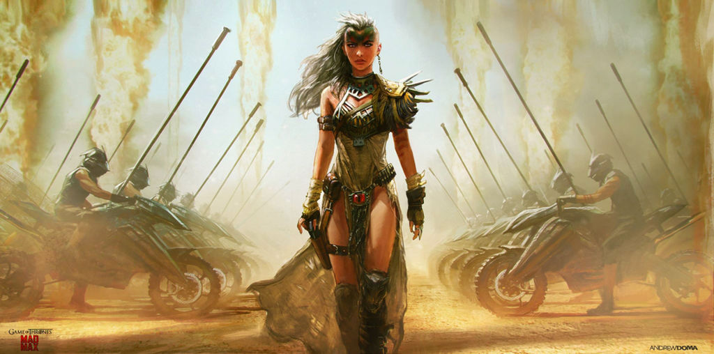 Daenerys Targaryen: Game of Thrones/Mad Max by andrewdoma