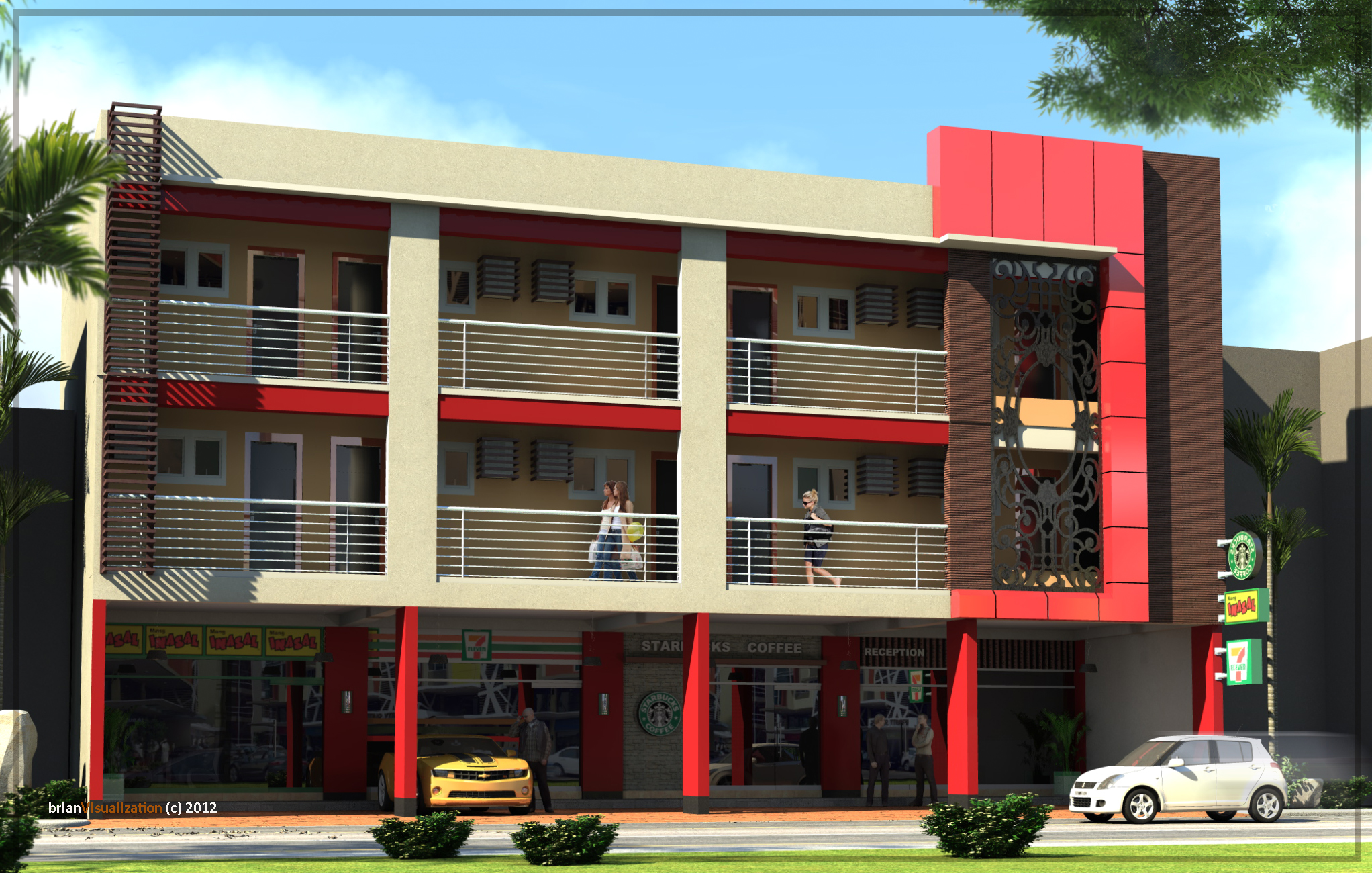 3 storey commercial building design for 2 story commercial building plans