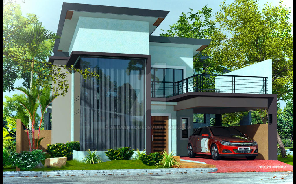 modern 2 story house designs trend home design and decor two story modern house plans houz buzz