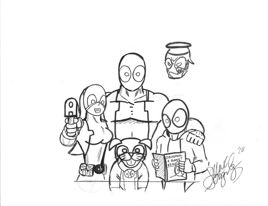 deadpool corps family portrait by mastersoundwave on deviantart