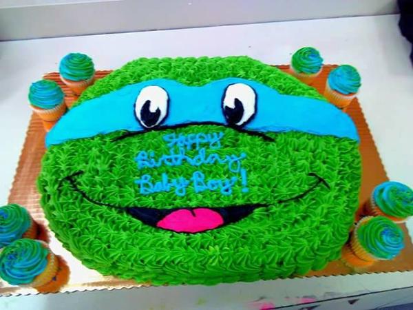 TMNT Leonardo Cupcake PullApart Cake by TehPurpleOne on DeviantArt
