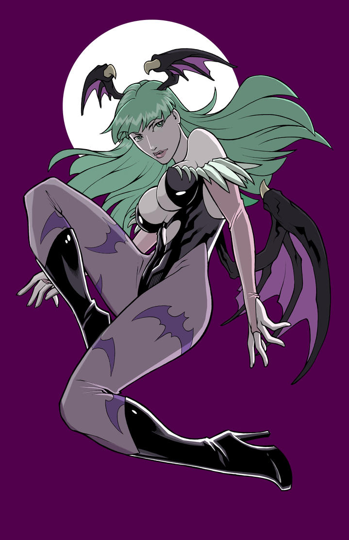 Morrigan Color Me Challenge by  *edwinhuang by evilnick