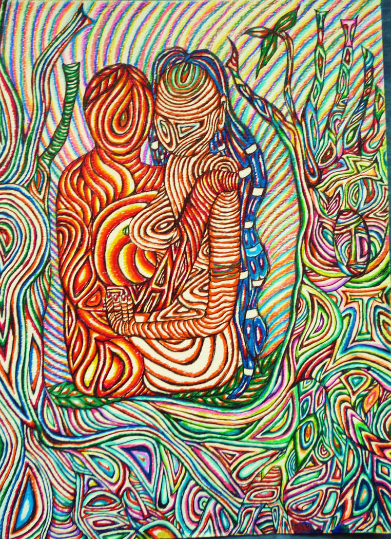 Psychedelic Surrealism Goddess And God Energy by ...