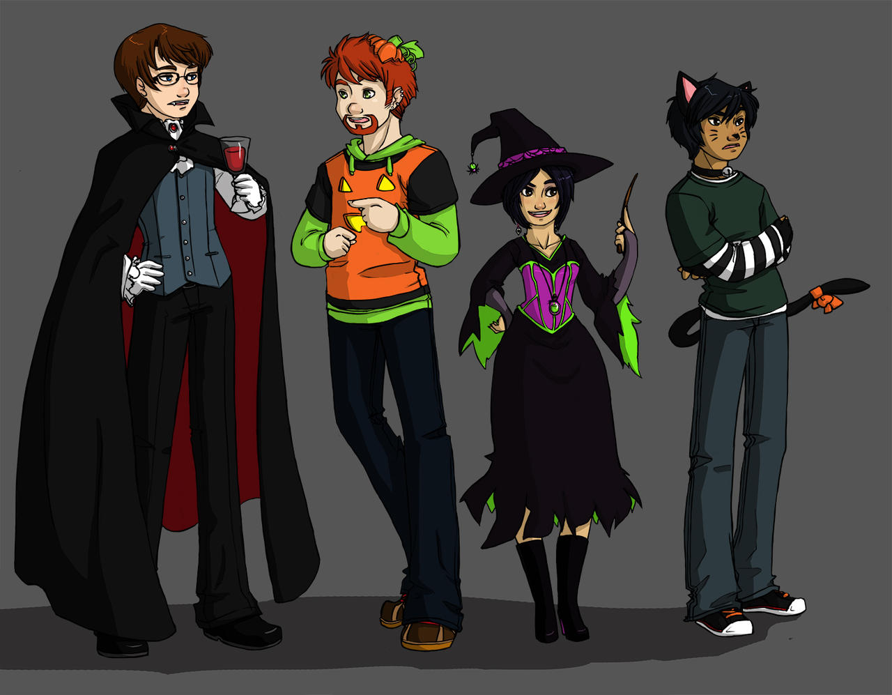 Halloween Costumes by akiwitch