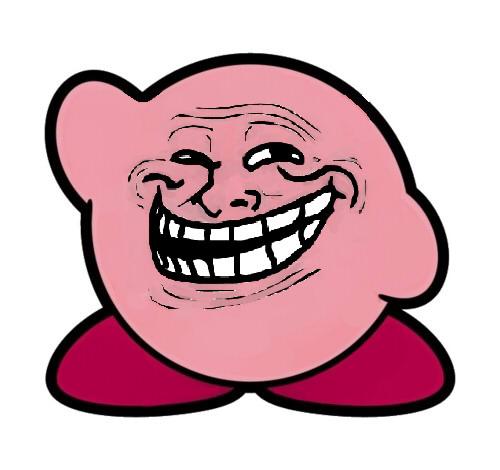 Mini jeux: comment représentez vous les membres du forum? - Page 10 Kirby_troll_face_by_arashi93_sama-d3bqrxs