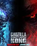 Godzilla vs Kong Half face poster