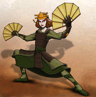 Suki the Kyoshi Warrior by TFRickert
