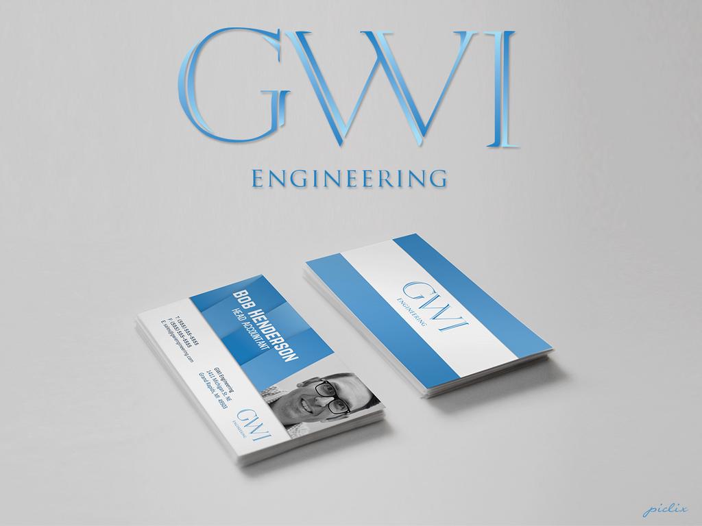 GWI Engineering | Logo + Business Card by Nikoudov on DeviantArt