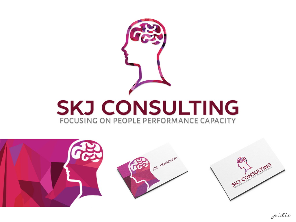 SKJ Consulting | Logo + Business Card by Nikoudov on ...