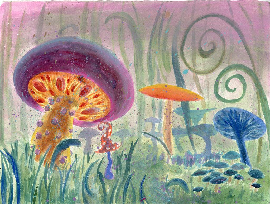 Mushroom paradise by miranda8888