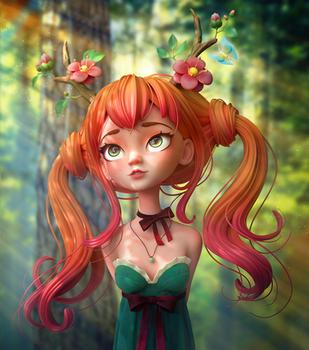 Druid Girl by Alina-207