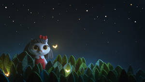 Kitty with fireflies by Alina-207